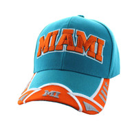 VM421 Miami City Velcro Cap (Aqua & Orange)