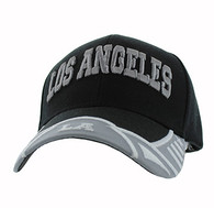 VM421 Los Angeles City Velcro Cap (Black & Light Grey)