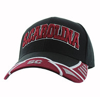 VM421 South Carolina State Velcro Cap (Black & Burgundy)