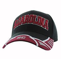 VM421 South Carolina State Velcro Cap (Black & Burgundy)