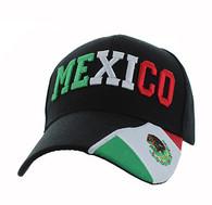 VM001 Mexico Velcro Cap (Solid Black)