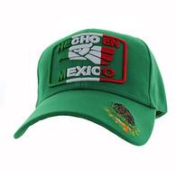 VM168 HECHO EN MEXICO Eagle Velcro Cap (Solid Kelly Green)