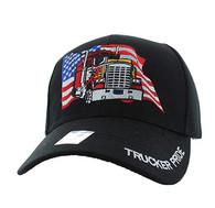 VM304 American USA Truck Velcro Cap (Solid Black)