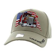 VM304 American USA Truck Velcro Cap (Solid Khaki)