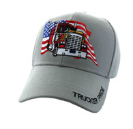 VM304 American USA Truck Velcro Cap (Solid Light Grey)