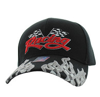 VM102 Racing Flag Velcro Cap (Solid Black)