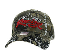 VM102 Racing Flag Velcro Cap (Solid Hunting Camo)