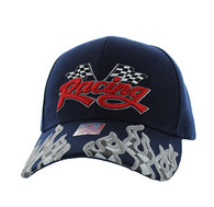 VM102 Racing Flag Velcro Cap (Solid Navy)