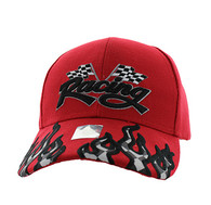 VM102 Racing Flag Velcro Cap (Solid Red)