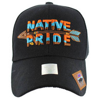VM047 Native Pride Arrow Velcro Cap (Solid Black)