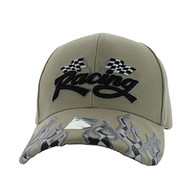 VM102 Racing Flag Velcro Cap (Solid Khaki)