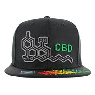 SM046 CBD Marijuana Snapback (Black & Black)
