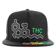 SM046 Marijuana THC Snapback (Black & Black)