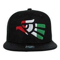 SM013 Hecho En Mexico Snapback Cap (Black & Black)