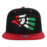 SM013 Hecho En Mexico Snapback Cap (Black & Red)
