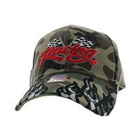 VM102 Racing Flag Velcro Cap (Solid Military Camo)