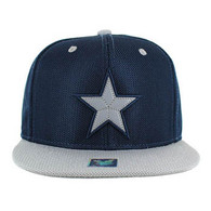 SM013 Star Snapback Cap (Navy & Grey)