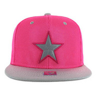 SM013 Star Snapback Cap (Hot Pink & Grey)