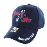 VM010 Jesus Senor Christian Velcro Cap (Solid Navy)