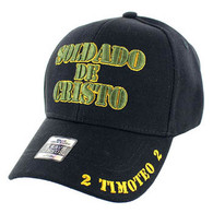 VM009 Soldado De Cristo Jesus Christian Velcro Cap (Solid Black)