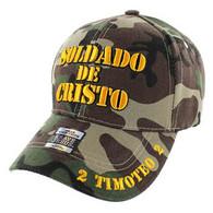 VM009 Soldado De Cristo Jesus Christian Velcro Cap (Solid Military Camo)