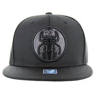 SM036 Spider Snapback Cap (Solid Black)