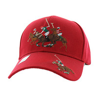 VM328 Polo Sport Velcro Cap (Solid Red)