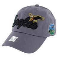 BM024 Eagle Cotton Baseball Cap (Solid Grey)
