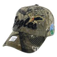 BM024 Eagle Cotton Baseball Cap (Solid Hunting Camo)