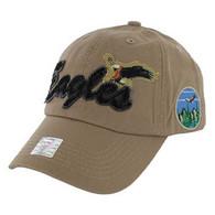 BM024 Eagle Cotton Baseball Cap (Solid Khaki)