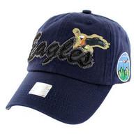 BM024 Eagle Cotton Baseball Cap (Solid Navy)
