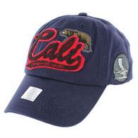 BM019 Cali Bear Cotton Velcro Cap (Solid Navy)