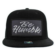 SM1001 Be Humble Snapback (Solid Black) - Silver