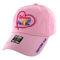 VM004 Women of Faith Jesus Christian Velcro Cap (Light Pink)