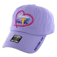 VM004 Women of Faith Jesus Christian Velcro Cap (Purple)