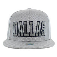 SM013 Dallas Whole Mesh Snapback (Solid Grey)