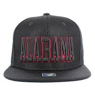 SM013 Alabama Whole Mesh Snapback (Solid Black)
