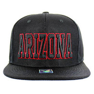 SM013 Arizona Whole Mesh Snapback (Solid Black)