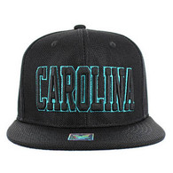 SM013 Carolina Whole Mesh Snapback (Solid Black)