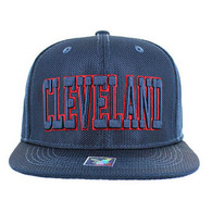 SM013 Cleveland Whole Mesh Snapback (Solid Navy)