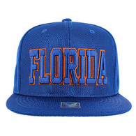 SM013 Florida Whole Mesh Snapback (Solid Royal)