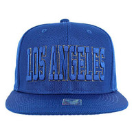 SM013 Los Angeles Whole Mesh Snapback (Solid Royal)