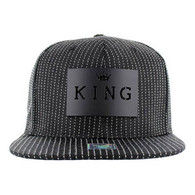 SM006 King Snapback (Solid Black) - Black Metal