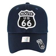 VM013 Route 66 Whole Mesh Velcro Cap (Solid Navy)