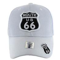 VM013 Route 66 Whole Mesh Velcro Cap (Solid White)