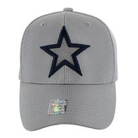 VM013 Star Whole Mesh Velcro Cap (Solid Grey)