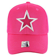 VM013 Star Whole Mesh Velcro Cap (Solid Hot Pink)