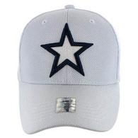 VM013 Star Whole Mesh Velcro Cap (Solid White)