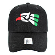 VM013 Hecho En Mexico Whole Mesh Velcro Cap (Solid Black)