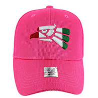 VM013 Hecho En Mexico Whole Mesh Velcro Cap (Solid Hot Pink)